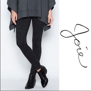 Joie Keena Black Gray Ponte Pants grey/black S